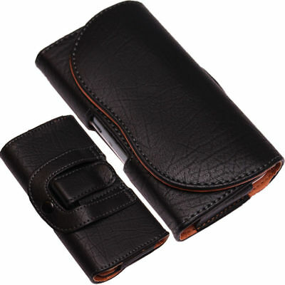 £3.99 • Buy Belt Clip Loop Holster Case Universal PU-Leather Pouch Holder For Mobile Phones