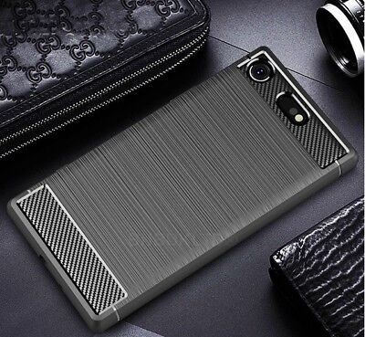 $ CDN6.77 • Buy For Sony Xperia XZ1 Carbon Fibre Gel Case Cover Brushed Shockproof Hybrid