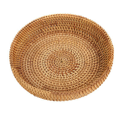 Woven Round Bread Roll Basket Food Serving Baskets Fruits Storage Container • 6.29£