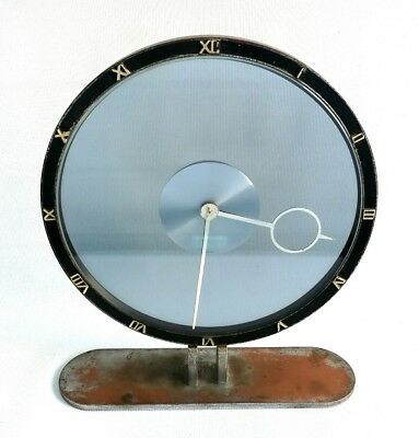 AU886.35 • Buy Vtg 1930s Kienzle Heinrich Moller Bauhaus Glass Table 8 Day Mantle Clock