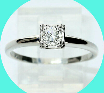 AU1027.60 • Buy .35CT VVS Diamond Solitaire Engagement Ring Wht/gold Round Brill Antique Styl 10