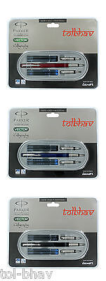 Parker Vector Calligraphy CT Ink Fountain Pen Set - 3 NIBS & 4 CARTRIDGES Free • 14.04£