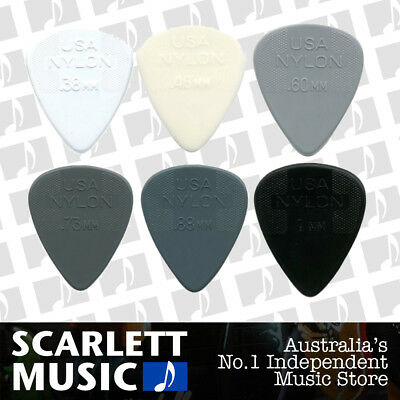 AU5.35 • Buy 6 X Jim Dunlop Nylon Mixed   Greys   Assorted Gauge Guitar Picks / Plectrums