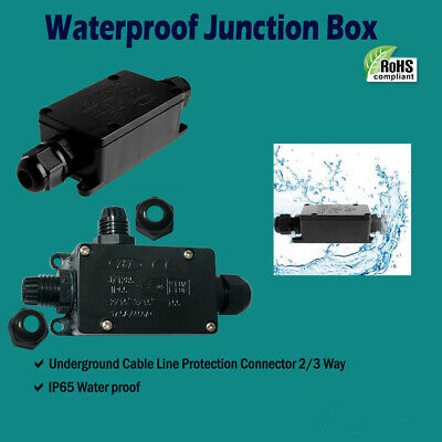 Outdoor Waterproof IP65 Electric Cable Connector 2/3way Junction Box Wiring Box • 4.77£