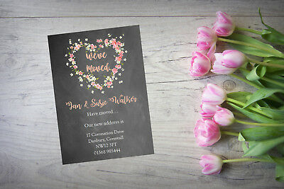 10 Personalised Handmade Change Of Address New Home House Moving Cards AC77 • 4£