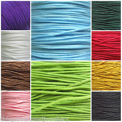 60 Meter Shamballa Rattail Chinese Knotting Cords1.0mm Thread • 4.99£