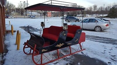 $2500 • Buy Antique Horse Drawn Sleigh 1880's Russian Style *PRICE DROPPED To $2,500