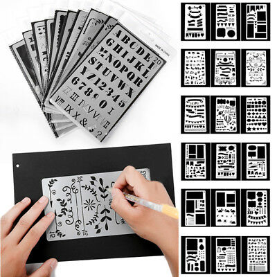 AU13.14 • Buy 20x Bullet Journal Stencil Plastic Planner DIY Drawing Template Diary Craft Sale