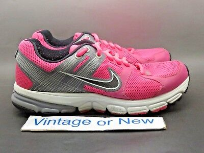 quality design 3fc18 f6cb6 Women s Nike Zoom Structure+ 15 Pink Grey Black Running Shoes 472506-601 Sz  6.5 •