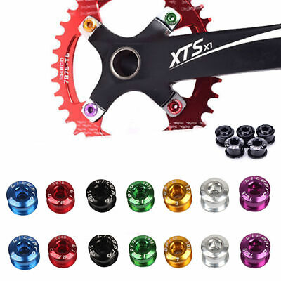 Green New Zoagear 7075 Alloy Bike Bicycle Single Chainring Bolts Crank Set