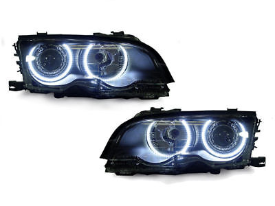 $299.94 • Buy DEPO UHP LED Angel Eyes Projector Headlight For 99-01 BMW E46 4D Sedan 5D Wagon