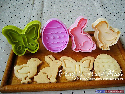 £2.85 • Buy 4X Easter Egg Rabbit Cake Fondant Plunger Cutter Cookies Biscuit Pastry Mold DIY