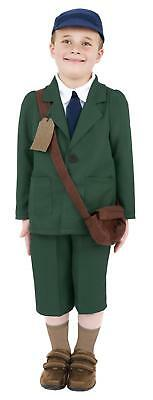 World War Two Evacuee Boy Costume Kids Civilian Fancy Dress Outfit With Hat • 13.75£