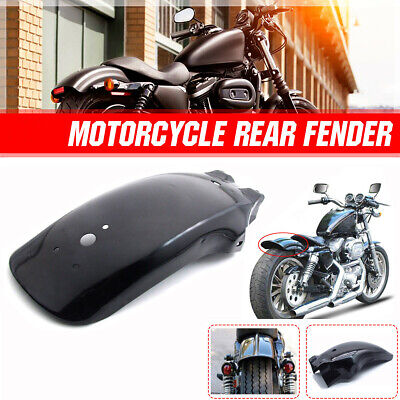 $31.99 • Buy Rear Black Mudguard Fender For Cruiser Chopper Bobber Cafe Racer Honda Shadow