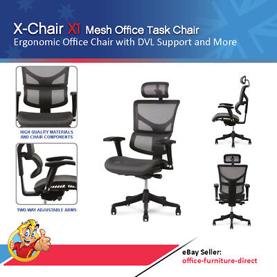 AU1014 • Buy X1 Mesh Office Chair Ergonomic Ergohuman Style Gaming Chairs Arms & Head Rest