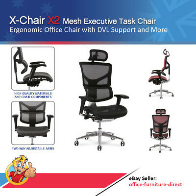 AU1172 • Buy Mesh Executive Chair X2 Ergonomic Gaming Office Task With Dynamic Lumbar & Arms