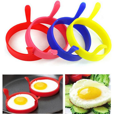 $0.85 • Buy Silicone Round Omelette Fry Egg Ring Pancake Poach Mold Kitchen Cooking Tool