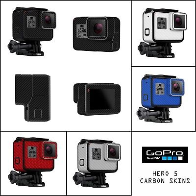 $ CDN13.15 • Buy GoPro Hero 5 6 Go Pro Carbon Fiber Look Skin Wrap Cover Decal For Case & Camera