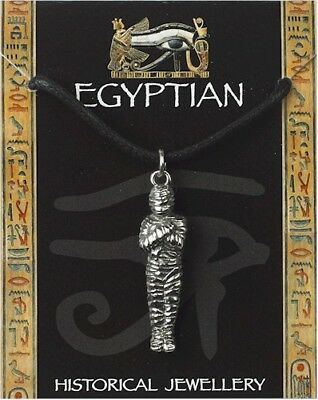 £5.99 • Buy Egyptian Pewter Mummy Pendant On A Waxed Cord
