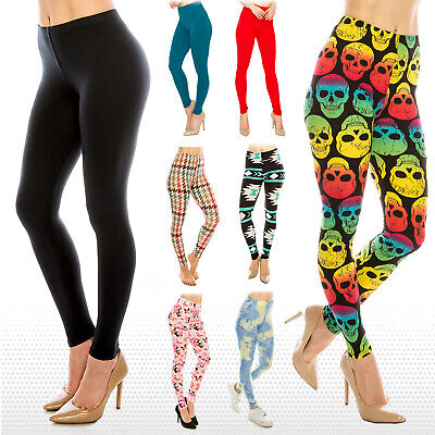 $9.49 • Buy Womens Buttery Ultra Soft Premium Leggings (Patterned And Solid) *FREE SHIPPING*