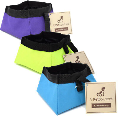 All Pet Solutions Dog Cat Food / Water Fold Up - Foldable Travel Bowl Waterproof • 3.29£