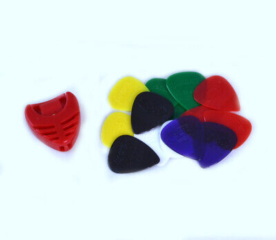 $ CDN9.55 • Buy 14 X HARD NYLON GUITAR PICKS & FREE PLECTRUM HOLDER Gauge Grip Acoustic Electric