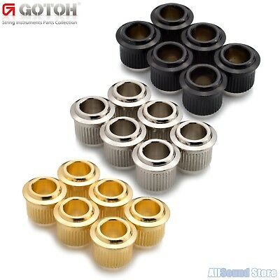 $ CDN22.96 • Buy (6) GOTOH 10mm To Vintage 1/4  Post Conversion Adapter Bushings For Guitar Tuner