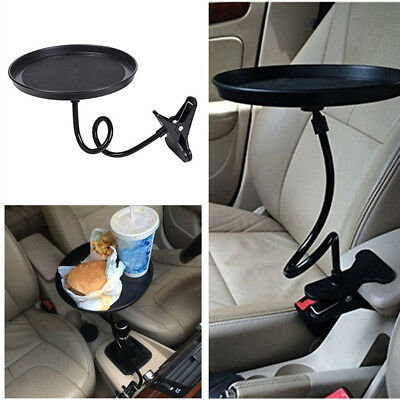 $18.79 • Buy 360° Car Black Swivel Mount Holder Travel Drink Cup Coffee Table Stand Food Tray