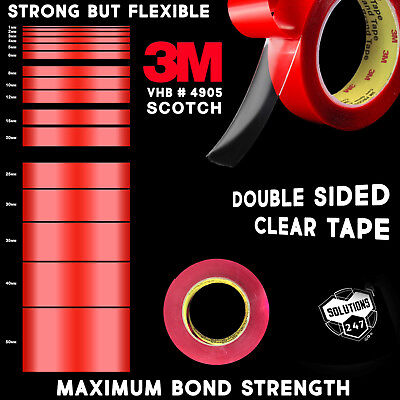 clear 3m double sided tape