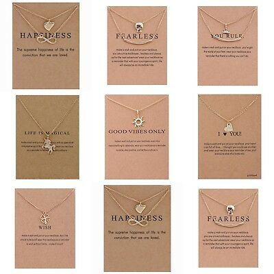 £3.59 • Buy 14K Gold Plated Necklace Chain Pendant Gift Jewellery Hand Made 9 Designs