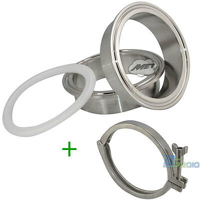 AU27.98 • Buy 1pcs/Set 2x 76MM 3  OD SS316 Sanitary Weld Ferrule +1x Tri Clamp +1x PTFE Gasket