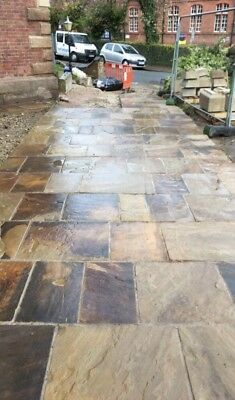New Riven Yorkstone Paving Hand Fettled And Swan Edge Available • 62.50£