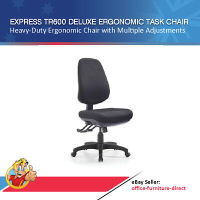 AU397 • Buy Office Chair Express Deluxe High Back Fully Ergonomic Chairs AFRDI Level 6 Seat