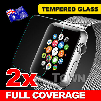 AU3.85 • Buy 2X For Apple Watch Tempered Glass Screen Protector For 38mm& 42mm Cover IWatch