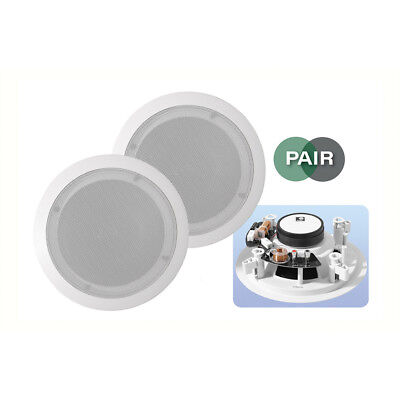 E-audio B409C 5.25  White 2-Way Low Profile Ceiling Install Speakers 16 Ohms • 35.99£