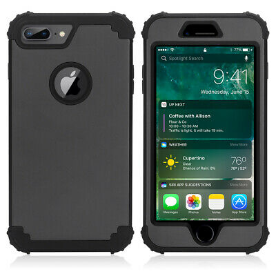 AU23.99 • Buy 3 In 1 Hybrid Shockproof Military Armor Kickstand Phone Cover Case For IPhone 8
