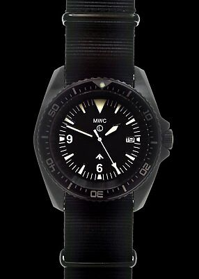 $ CDN377.52 • Buy MWC 1000ft WR 12 Hour Dial Military Divers Watch In PVD Steel Case (Automatic)