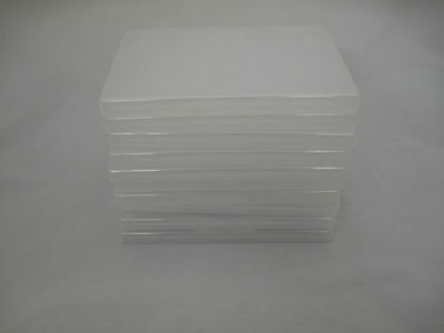 50 Clear Blank Empty Single DVD CD Blu-ray Game Cases • 25£