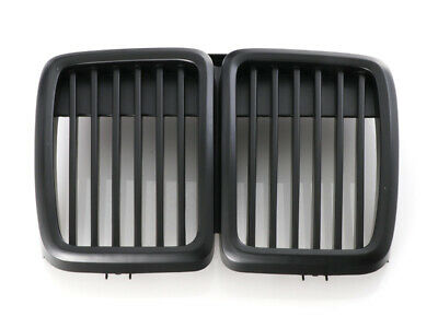 $45.94 • Buy Pair Matte Black Shadow Nose Kidney Grill Grille For 1984-1991 BMW E30 3 Series