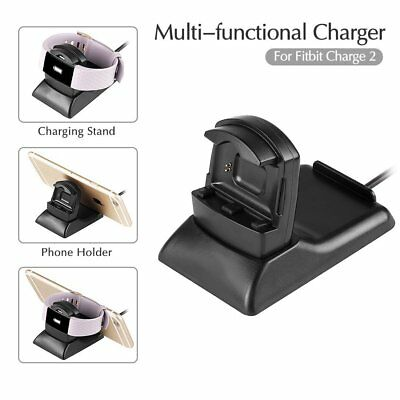 $ CDN15.97 • Buy 2 In 1 Charging  Dock &Phone Holder+3 Film Screen Protector For Fitbit Charge 2