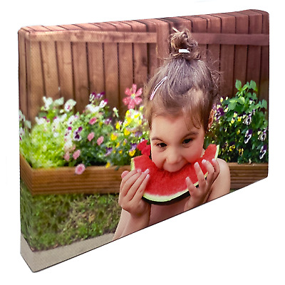 £11.99 • Buy Photo Canvas Print Personalised Wall Art Framed Printed Picture Hanging Artwork