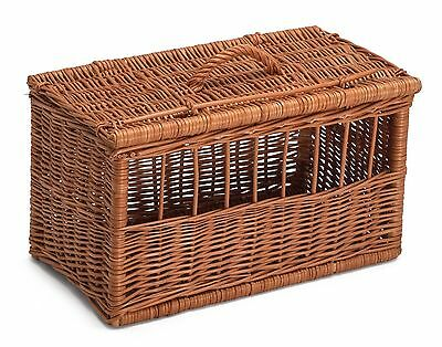 Extra Large Wicker Cat Dog Pet Carrier Basket Chemicals Free Durable Hand Made • 49£