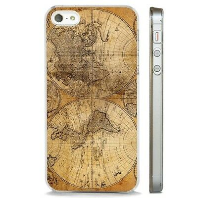 Antique Map World Vintage CLEAR PHONE CASE COVER Fits IPHONE 5 6 7 8 X • 2.95£