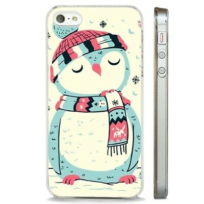 AU10.79 • Buy Christmas Owl Snowy Cute CLEAR PHONE CASE COVER Fits IPHONE 5 6 7 8 X