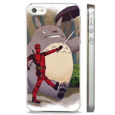 Deadpool Totoro My Neighbor Funny CLEAR PHONE CASE COVER Fits IPHONE 5 6 7 8 X • 5.95£
