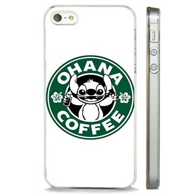 Disney Lilo And Stitch Funny Coffee CLEAR PHONE CASE COVER Fits IPHONE 5 6 7 8 X • 5.95£