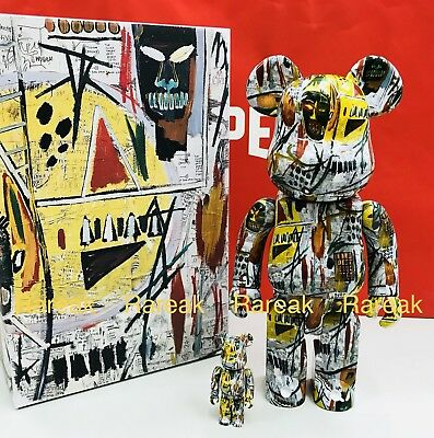$1023.99 • Buy Medicom Be@rbrick 2018 Jean-Michel Basquiat Printings 400% + 100% Bearbrick Set