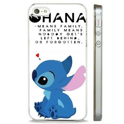 Lilo And Stitch Disney Family Ohana CLEAR PHONE CASE COVER Fits IPHONE 5 6 7 8 X • 5.95£
