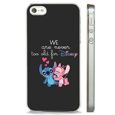 Lilo And Stitch Disney Love CLEAR PHONE CASE COVER Fits IPHONE 5 6 7 8 X • 5.95£