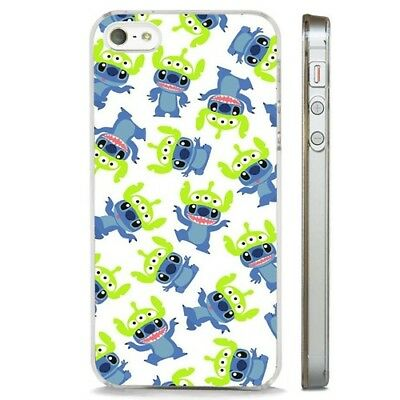 Lilo Stitch Toy Story Alien CLEAR PHONE CASE COVER Fits IPHONE 5 6 7 8 X • 5.95£